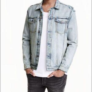 H&M x Coachella distressed denim jacket